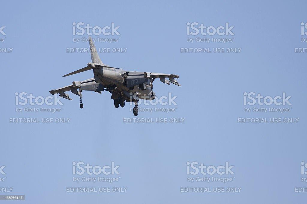 Harrier AV-8B Jet Hovering royalty-free stock photo