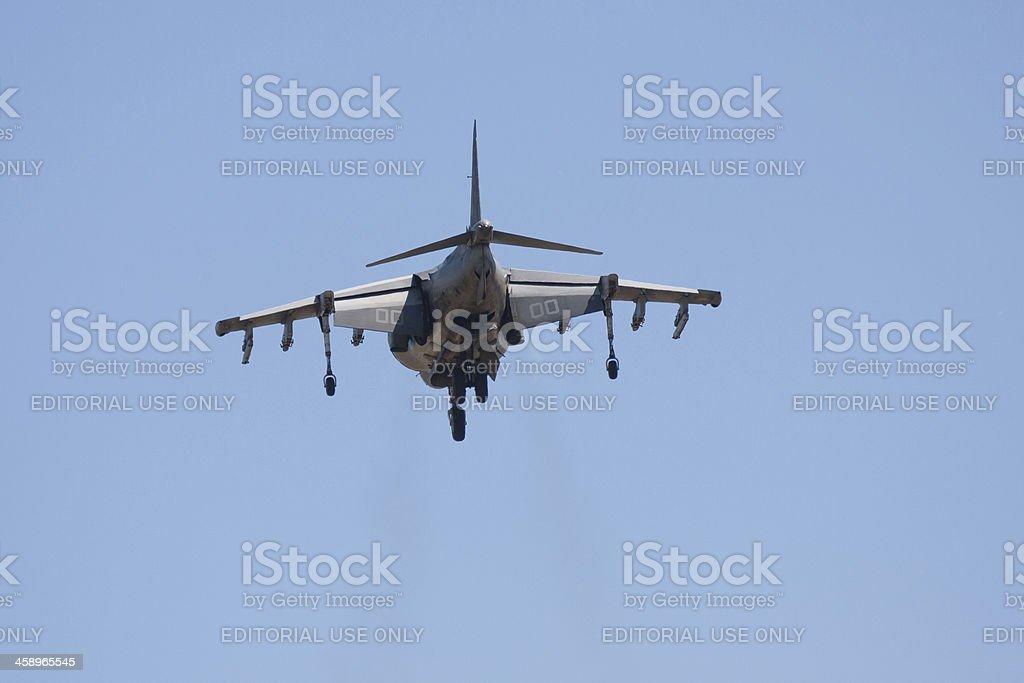 Harrier AV-8B Jet Hovering stock photo