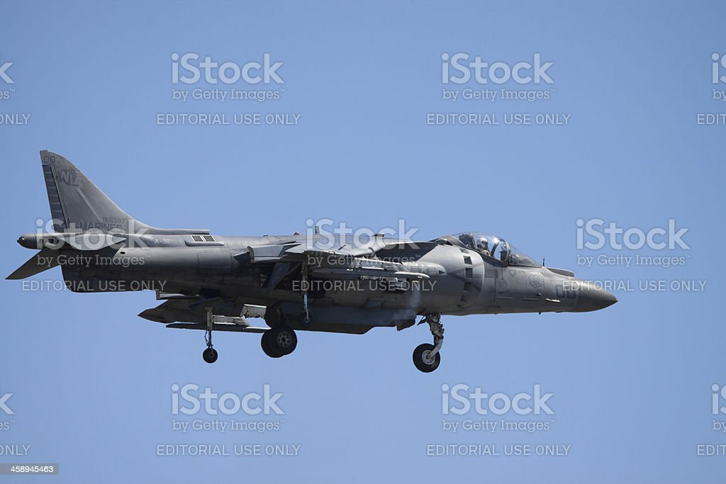 Harrier AV-8B Jet In Flight royalty-free stock photo