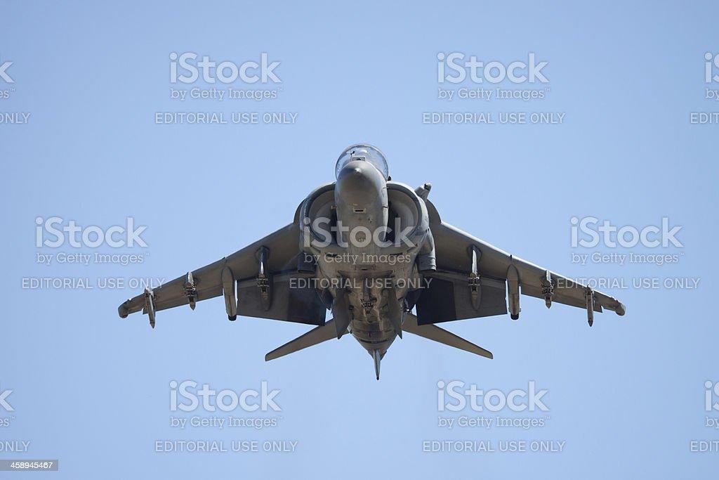 Harrier AV-8B Jet In Flight stock photo
