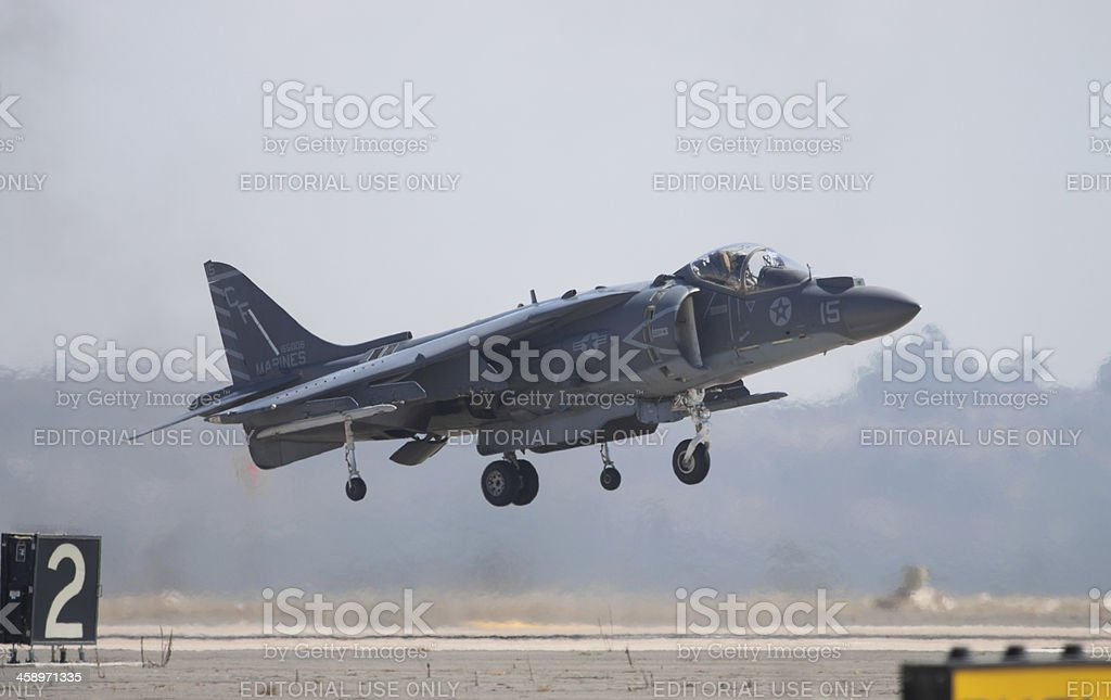 Harrier Jet Landing royalty-free stock photo