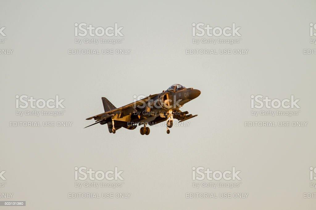 Harrier Jump Jet AV 8 at an air show stock photo