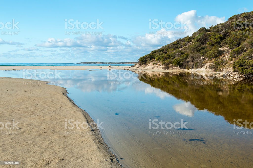 Harriet River mouth stock photo