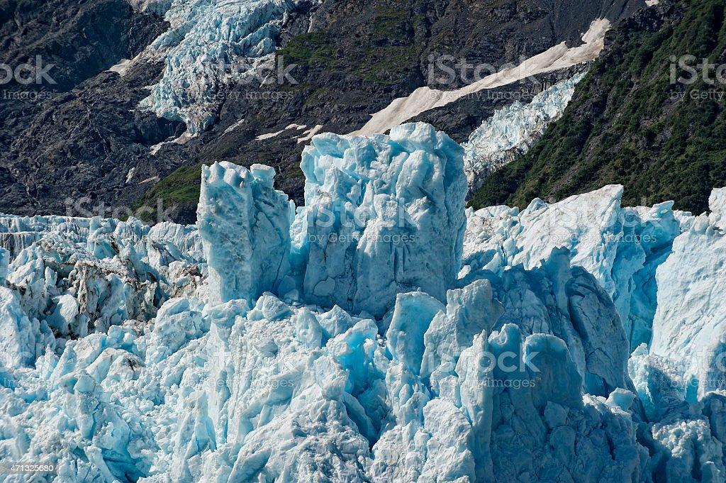 Harriman glacier in Alaska stock photo