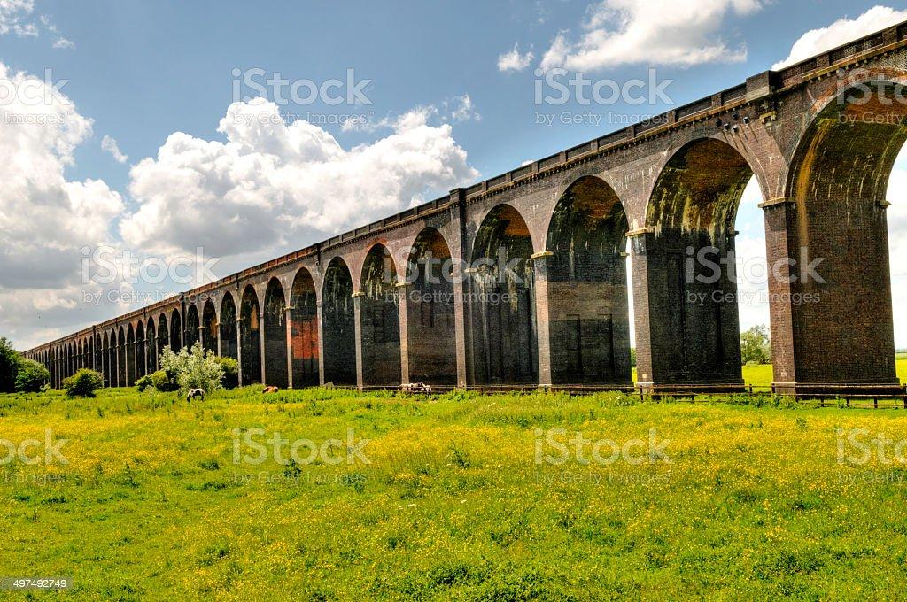 Harringworth Viaduct stock photo