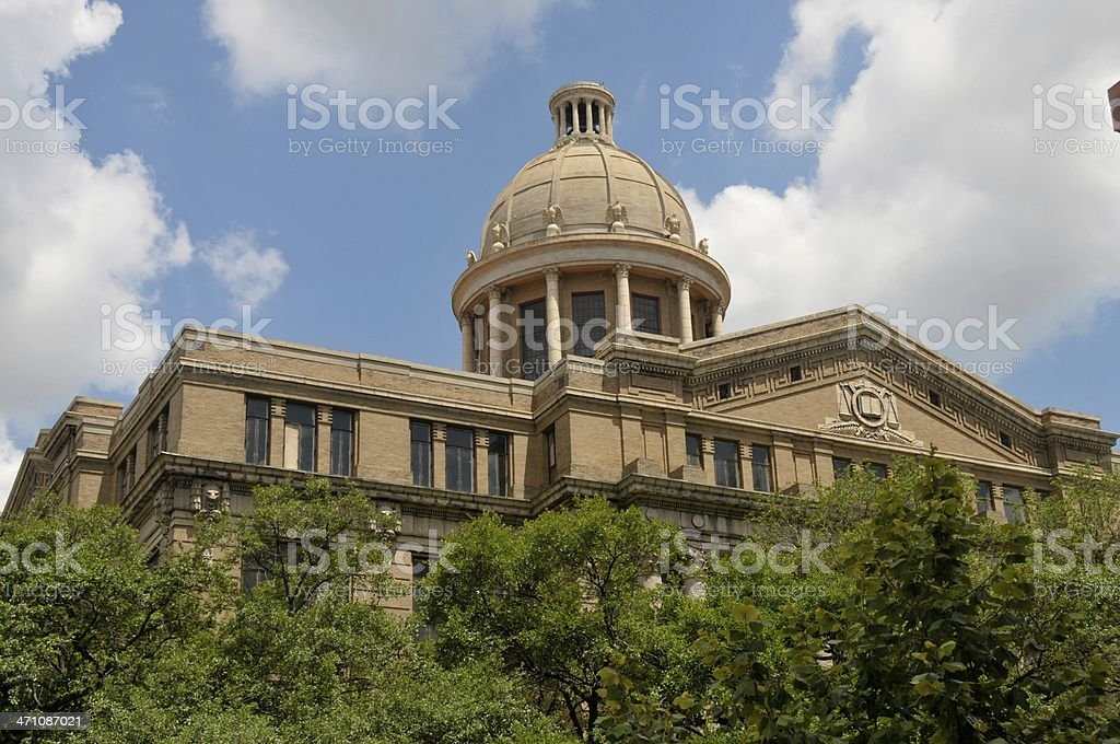 Harris County Courthouse in Houston royalty-free stock photo