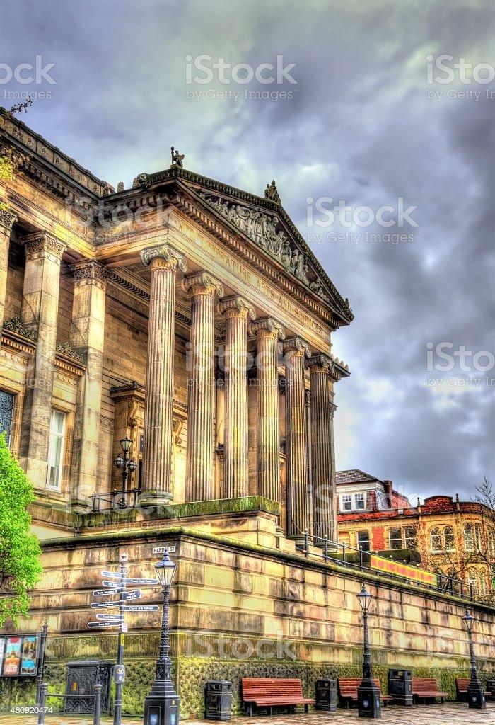 Harris Museum and Art Gallery in Preston - England stock photo