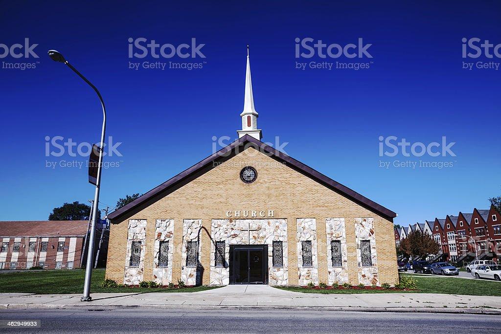 Harris Temple Apostolic Overcoming Holy Church of God, Chicago stock photo