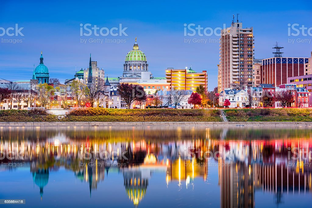 Harrisbug Pennsylvania Skyline stock photo