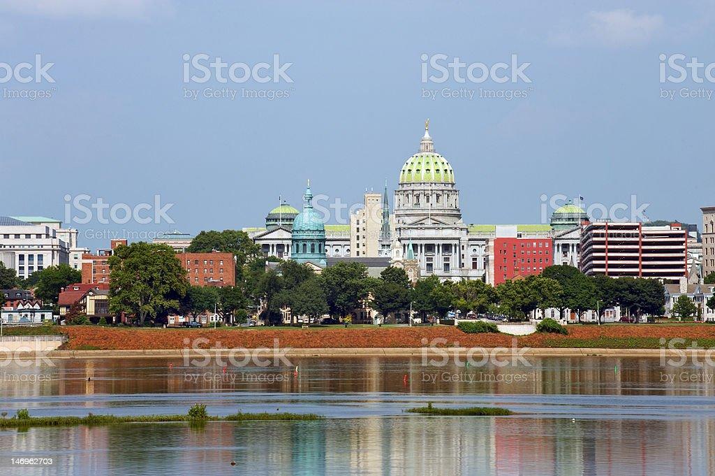 Harrisburg panorama royalty-free stock photo