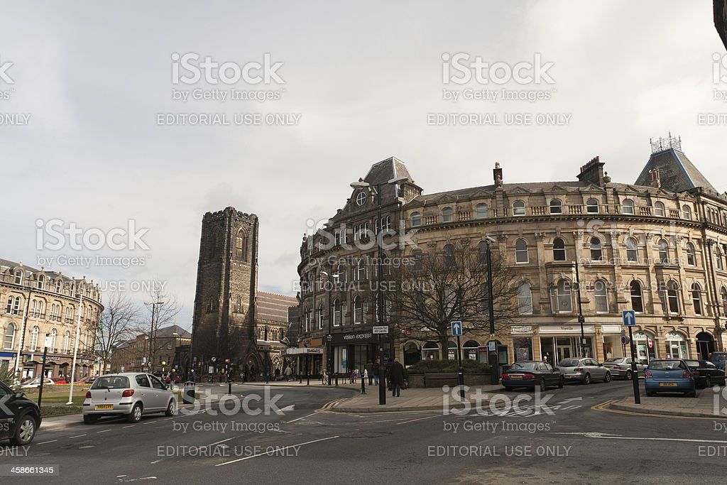 Harrogate city centre Yorkshire England stock photo