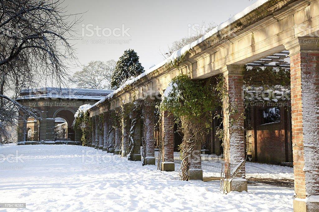 Harrogate Yorkshire in winter royalty-free stock photo