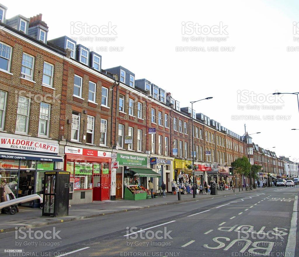 Harrow Rd London stock photo