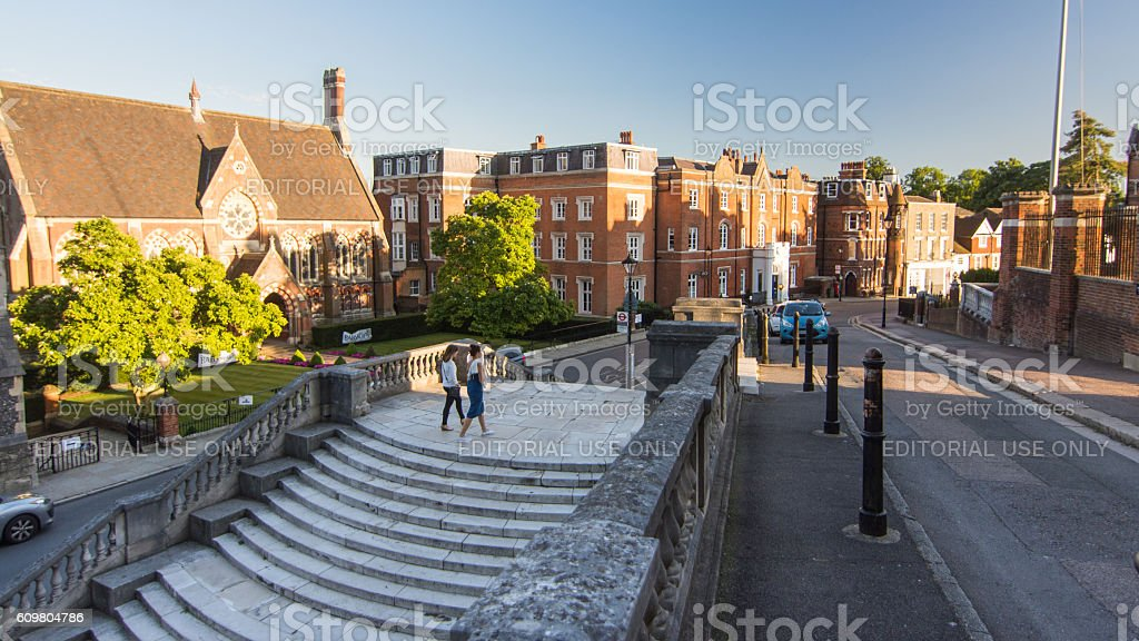 Harrow School in London stock photo