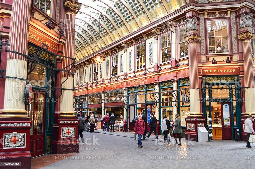 Harry Potter Diagon Alley - Leadenhall Market in London, UK stock photo