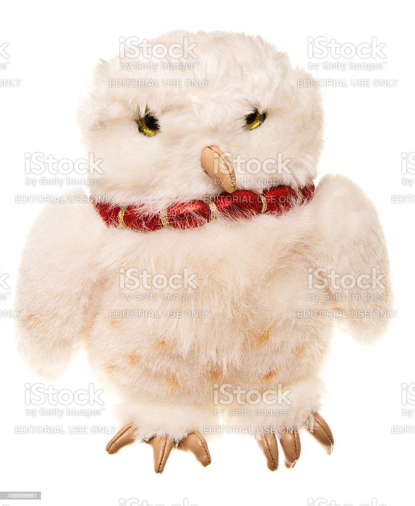 Harry Potter Hedwig Plush Owl Toy stock photo