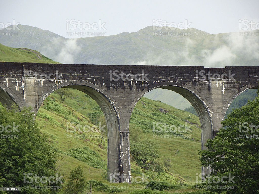 Harry Potter`s viaduct stock photo