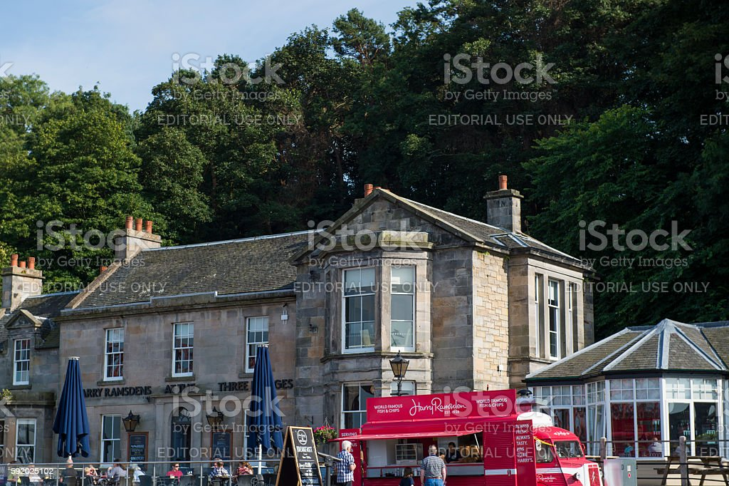 Harry Ramsdens fish and chip restaurant in south Queensferry, Scotland stock photo