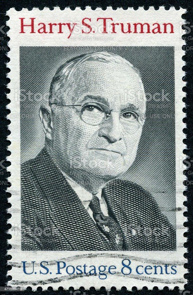Harry S. Truman Stamp stock photo