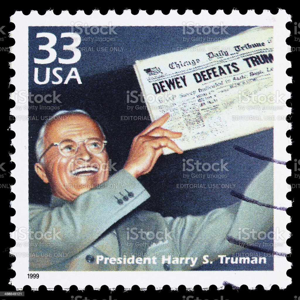 USA Harry Truman postage stamp stock photo