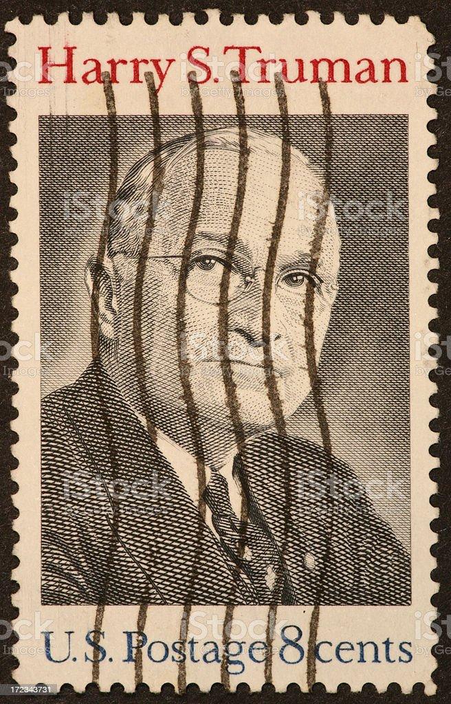 Harry Truman stamp stock photo