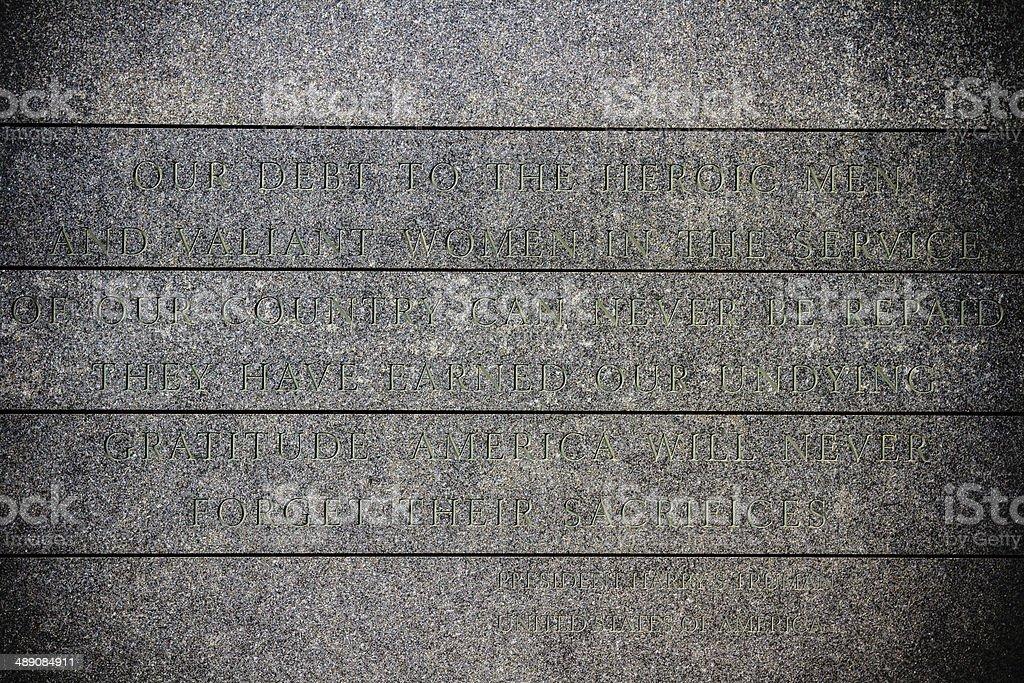 Harry Truman's quote stock photo