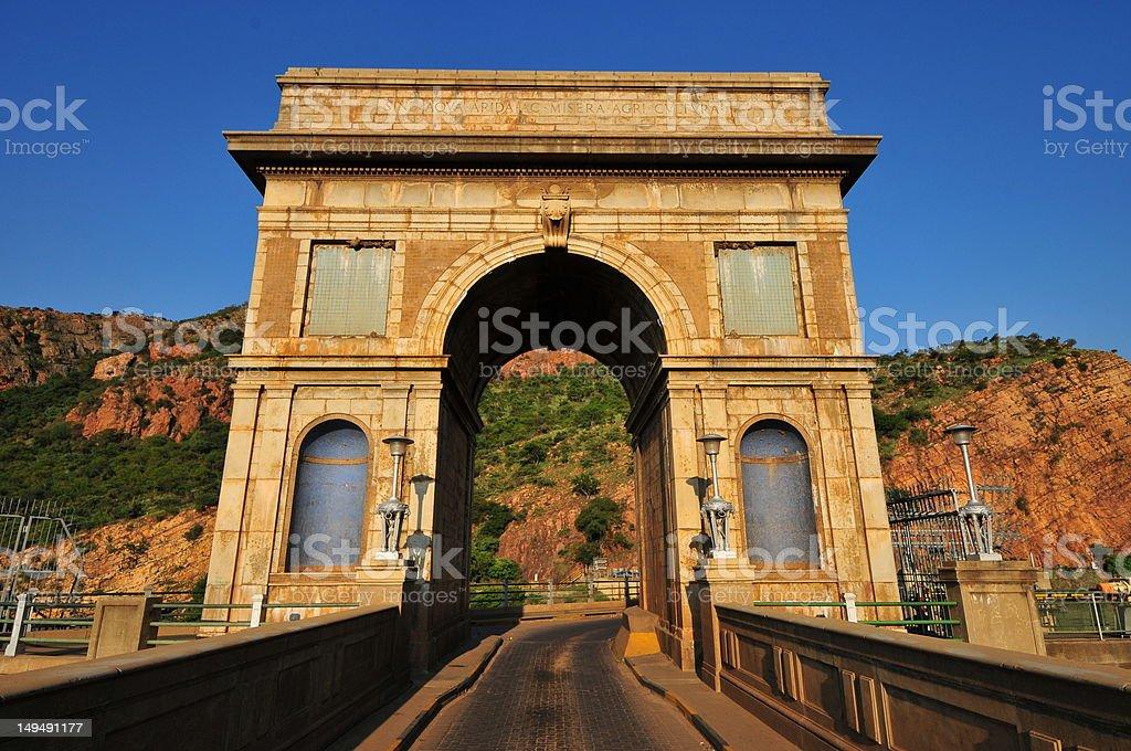 Hartbeespoort Dam Arch stock photo