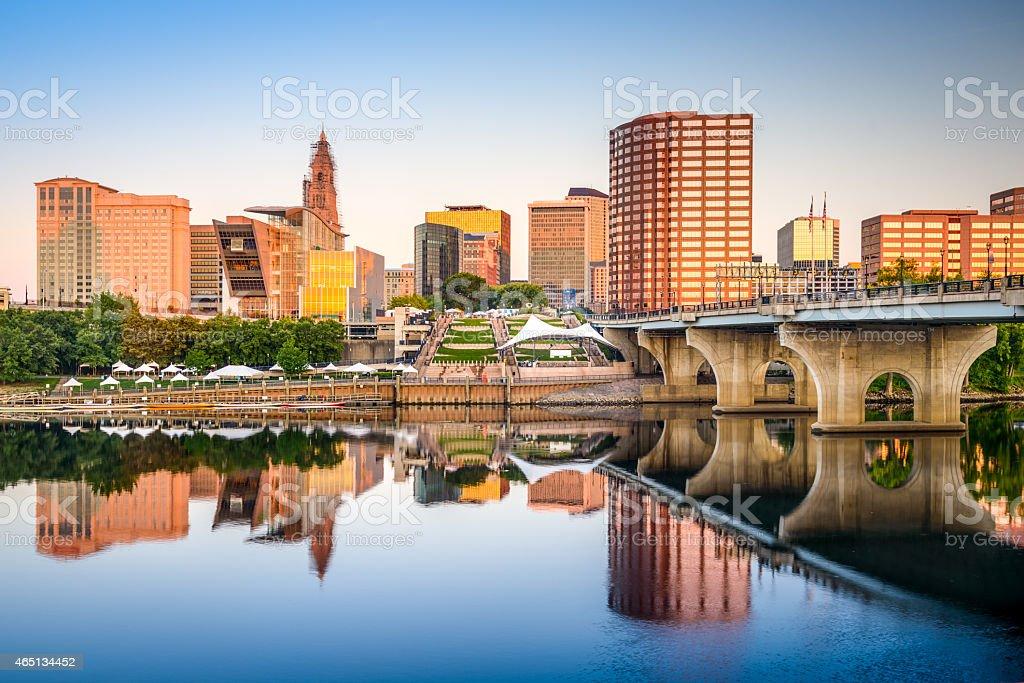 Hartford City Skyline stock photo