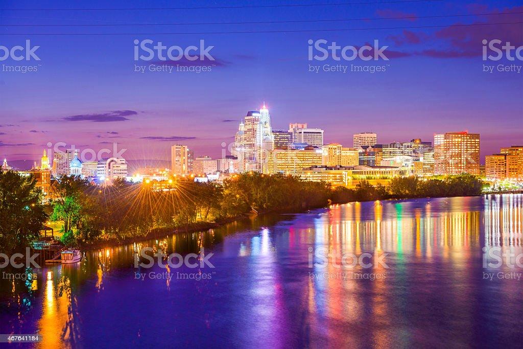 Hartford Connecticut Cityscape stock photo