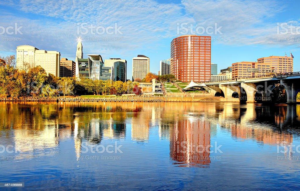 Hartford Connecticut Skyline stock photo