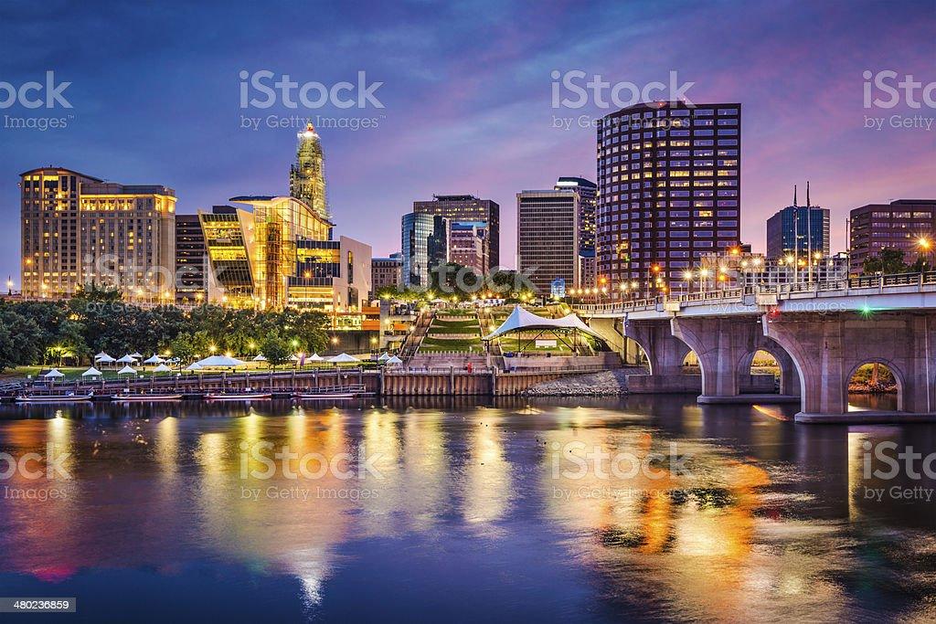 Hartford, Connecticut Skyline stock photo