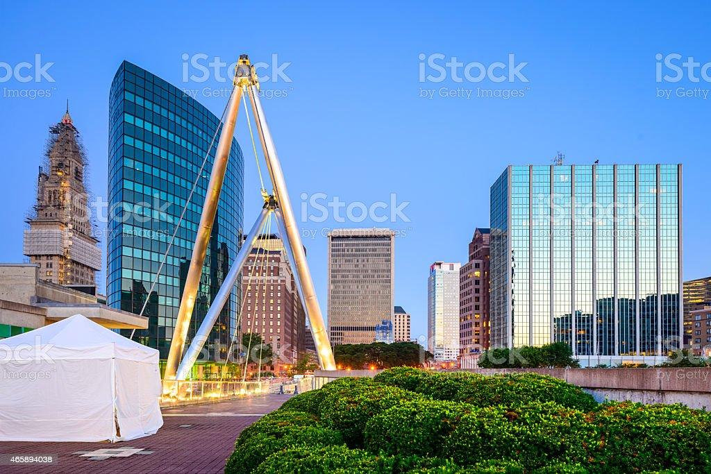 Hartford, CT Cityscape stock photo