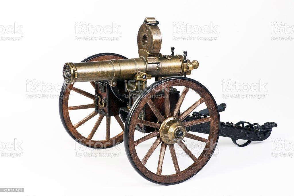 Hartford Gatling Gun. stock photo