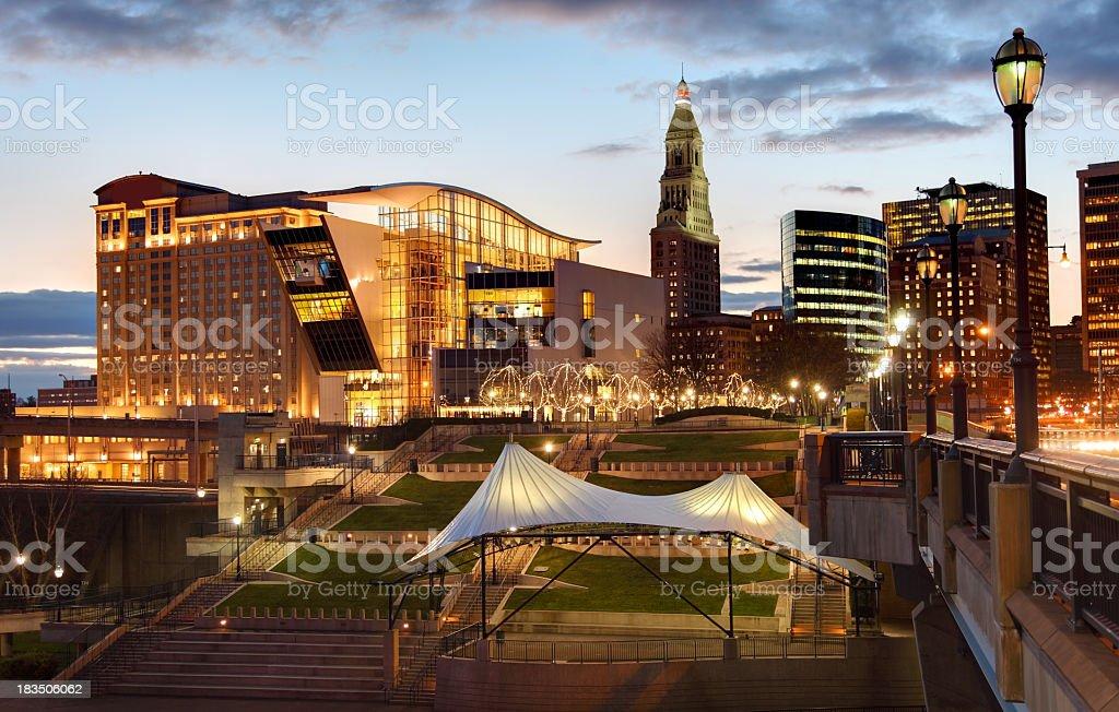 Hartford Waterfront stock photo