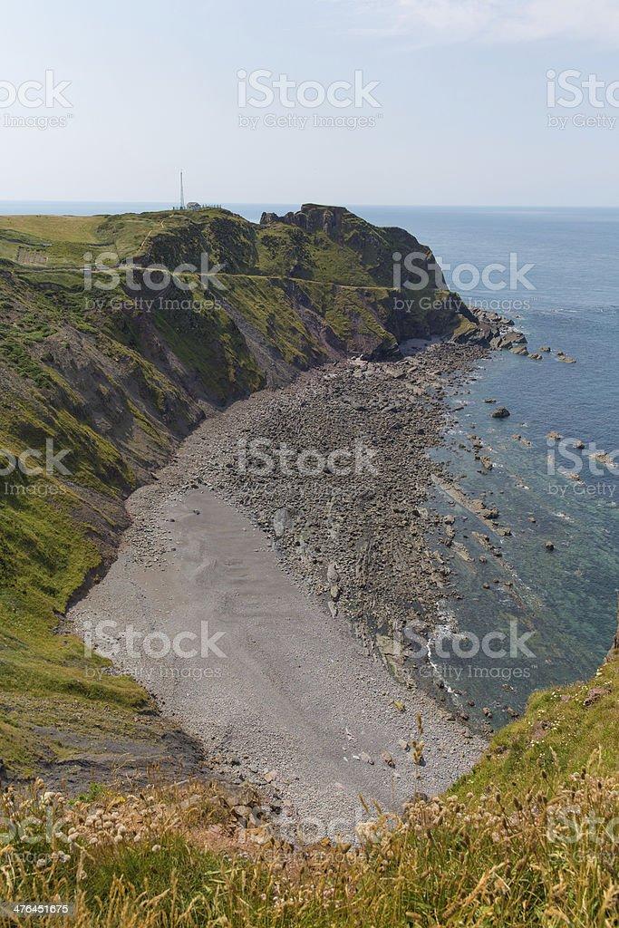 Hartland Point beach Devon England royalty-free stock photo