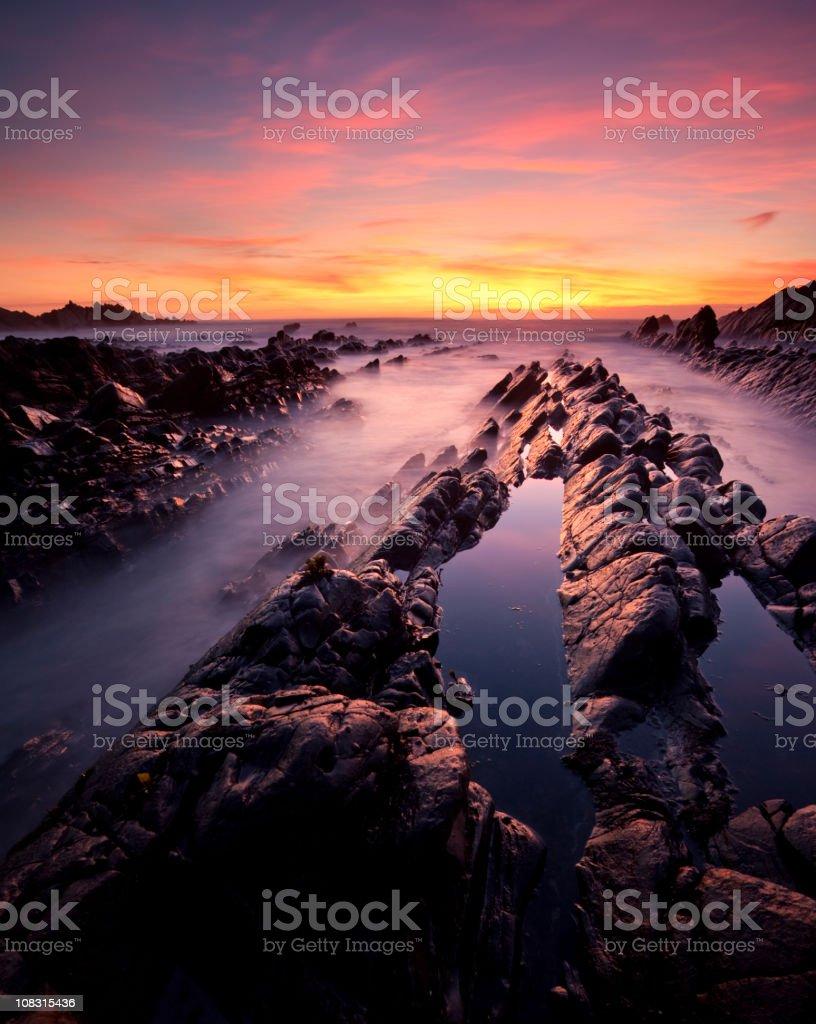 Hartland Quay royalty-free stock photo