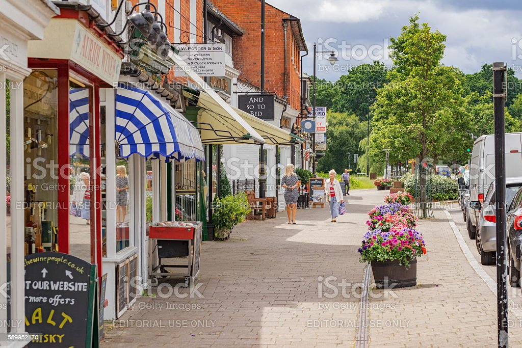 Hartley Wintney High Street stock photo