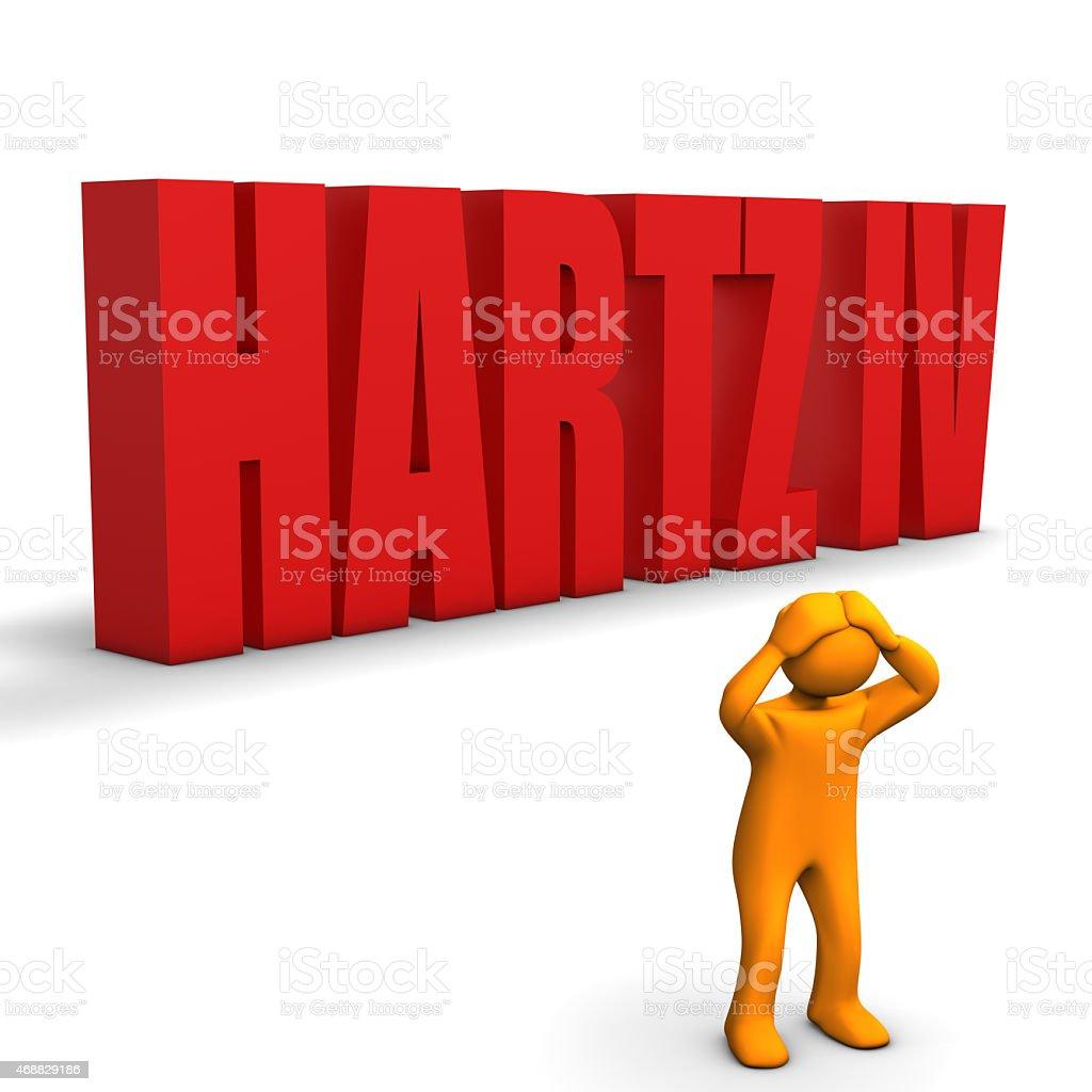 Hartz 4 stock photo