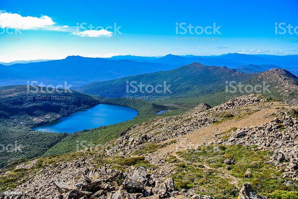 Hartz Mountains National Park, Tasmania stock photo
