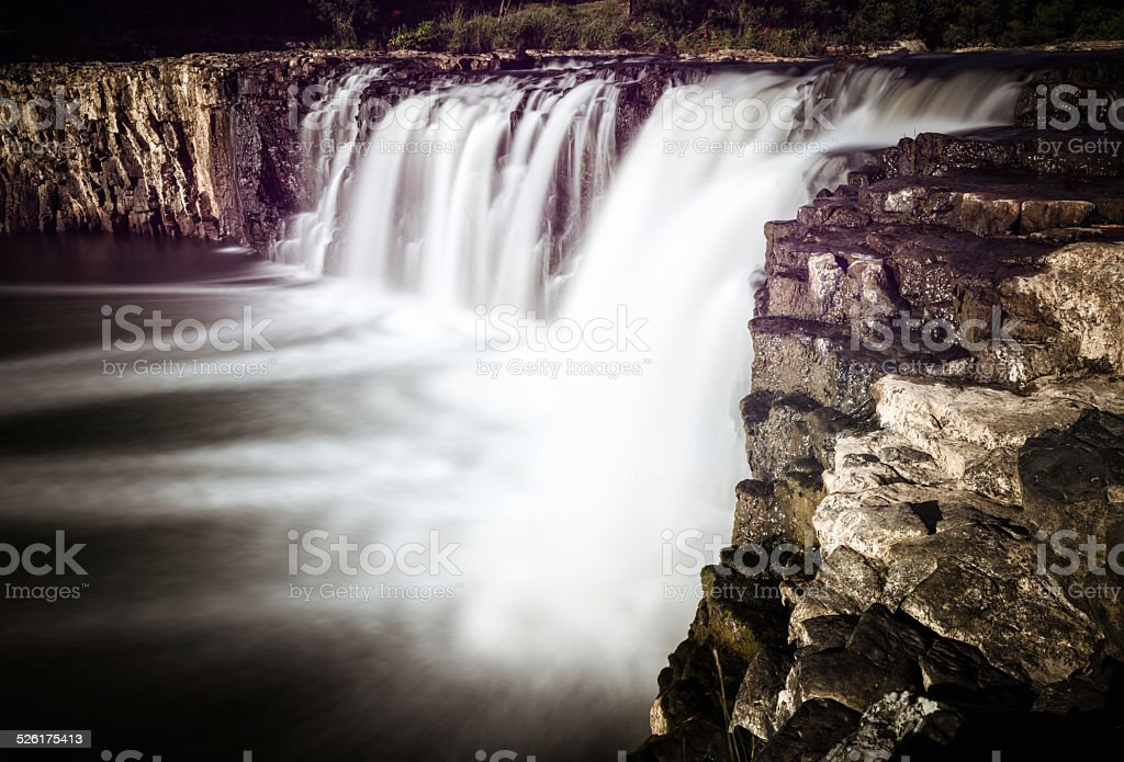 Haruru Falls in New Zealand stock photo