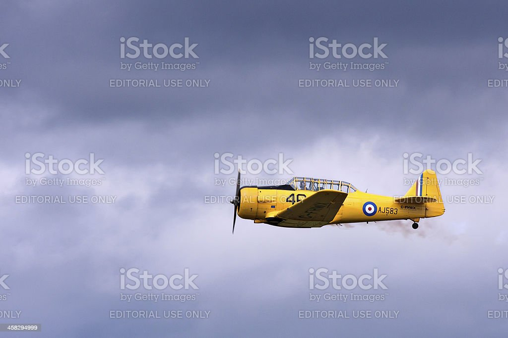Harvard airplane royalty-free stock photo
