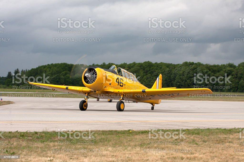 harvard airplane royalty-free stock photo