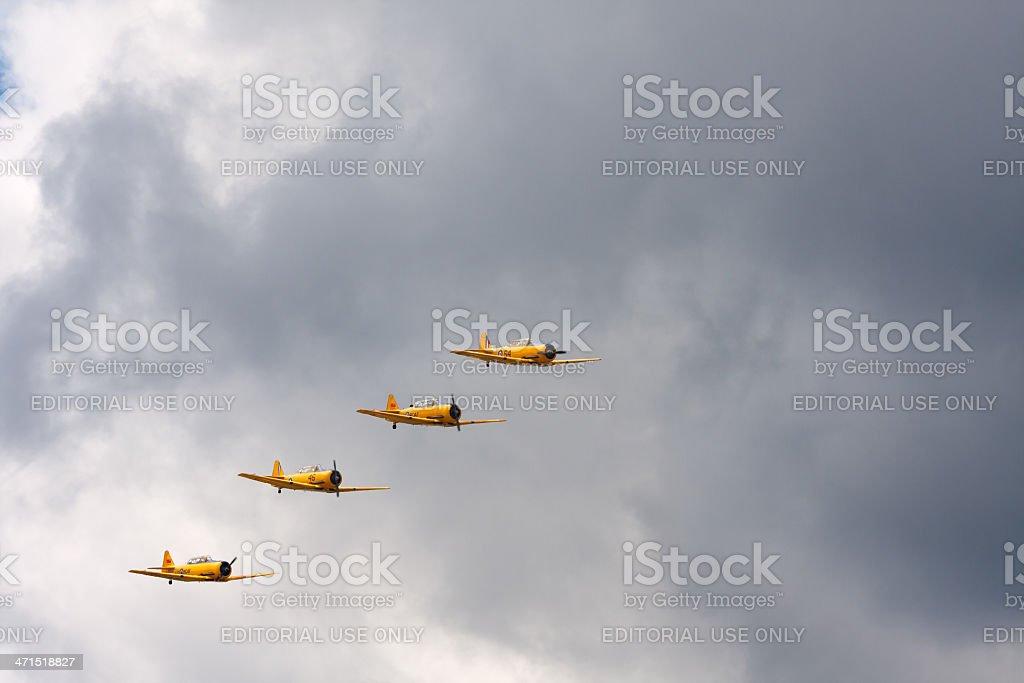 Harvard airplanes royalty-free stock photo