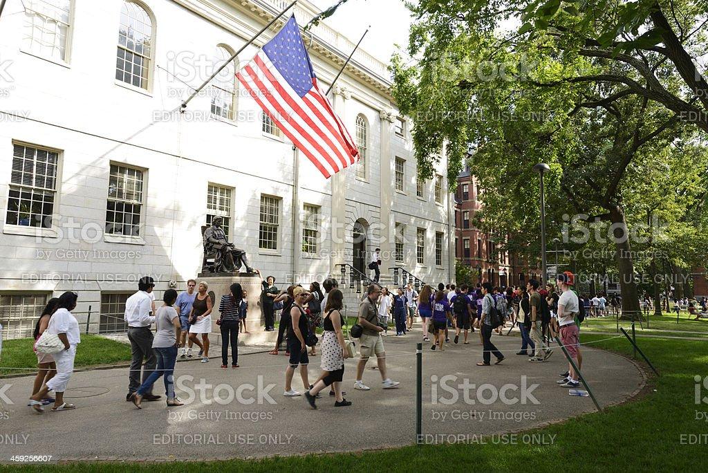 Harvard Campus,Boston stock photo