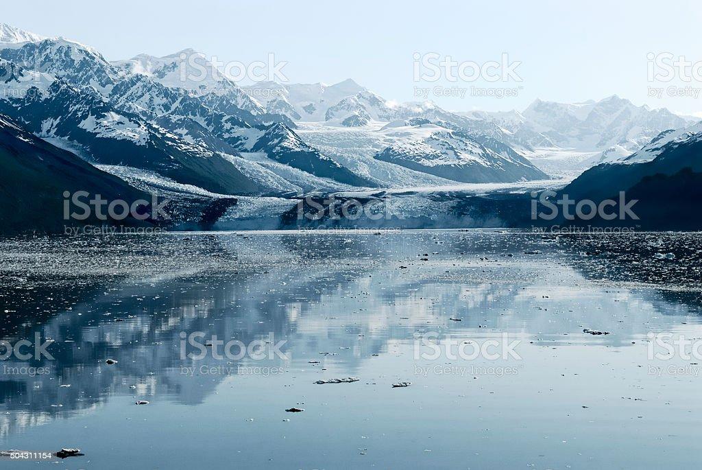 Harvard Glacier at College Fjord, Prince William Sound, Alaska stock photo