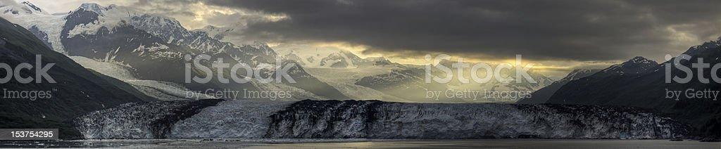 Harvard Glacier Sunrise Panorama stock photo