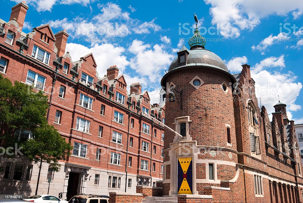 Harvard Lampoon Building in Cambridge, MA royalty-free stock photo