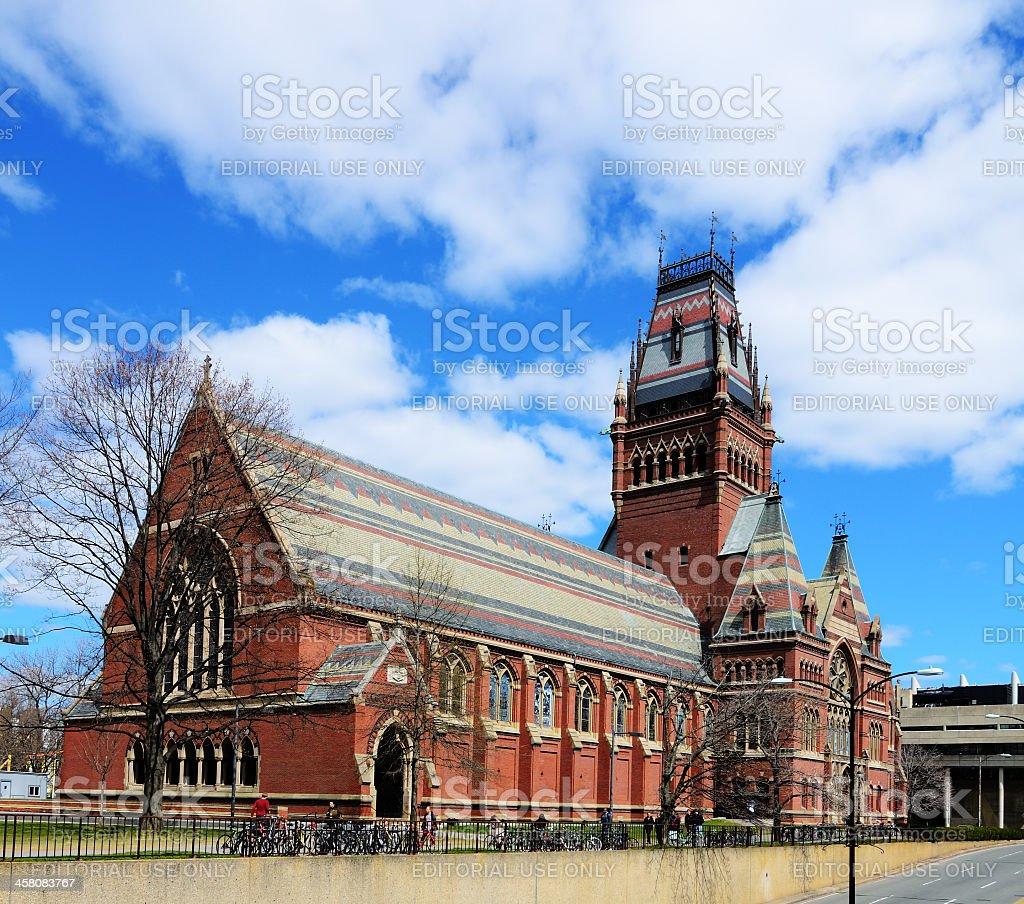 Harvard Memorial Hall stock photo