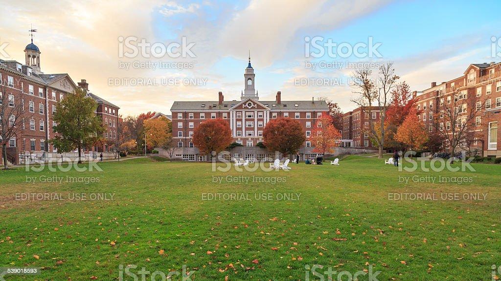 Harvard Moors Hall stock photo