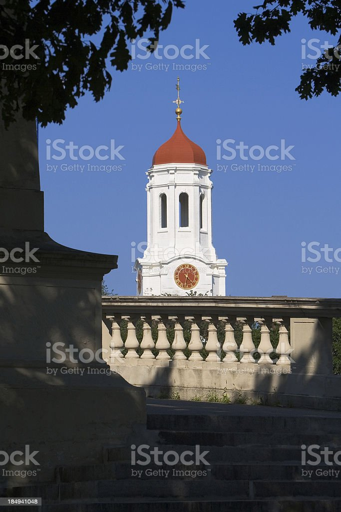 Harvard University's Dunster House Red dome cupola stock photo